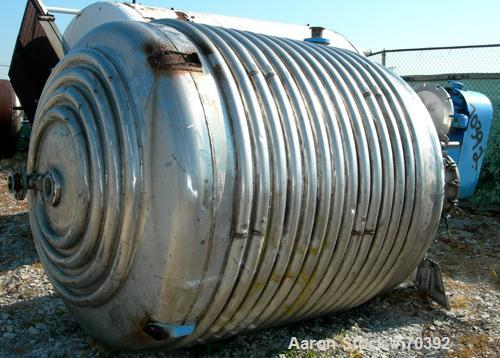 """USED: Tolan reactor, 1700 gallon, 316 stainless steel, vertical. 78"""" diameter x 78"""" straight side, dish top and bottom. Inte..."""