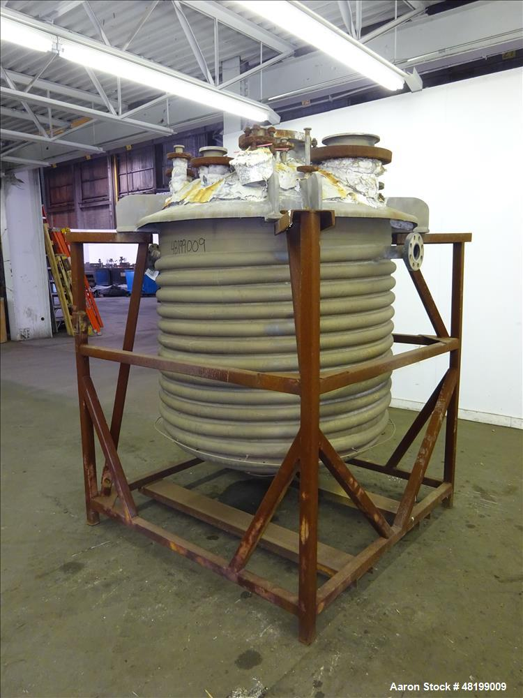 Used- Trinity Industries Inc. Reactor, Approximate 300 Gallon, 316L Stainless St
