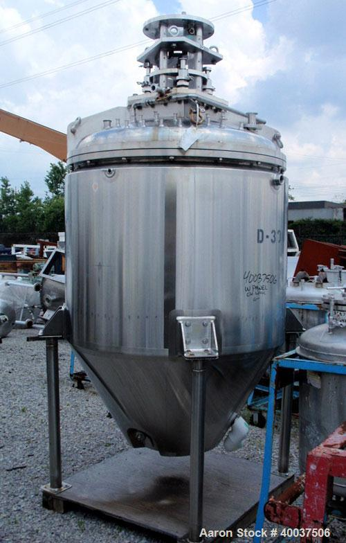 "Used- Walker Reactor, 400 Gallon, Model D-300-4, 316L stainless steel, vertical. Approximately 50"" diameter x 40"" straight s..."