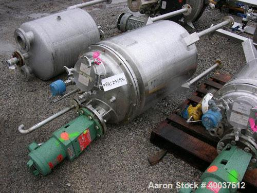 "Used- Walker Reactor, 50 Gallon, Model D-405-4W, 316L Stainless Steel, Vertical. 22"" diameter x 26"" straight side. Dished bo..."