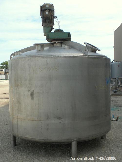 "Used- Walker Reactor Processor, 1750 Gallon, Model PZ-MIX, 316L Stainless Steel, Vertical. 90"" Diameter x 60"" straight side,..."