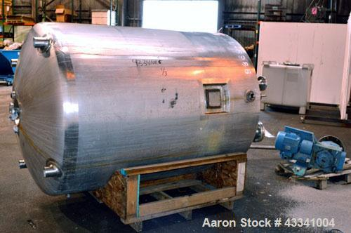 "Used- Walker Stainless Reactor, 700 Gallon, Model SP-6100, 316 Stainless Steel, Vertical. 54"" Diameter x 68"" straight side, ..."