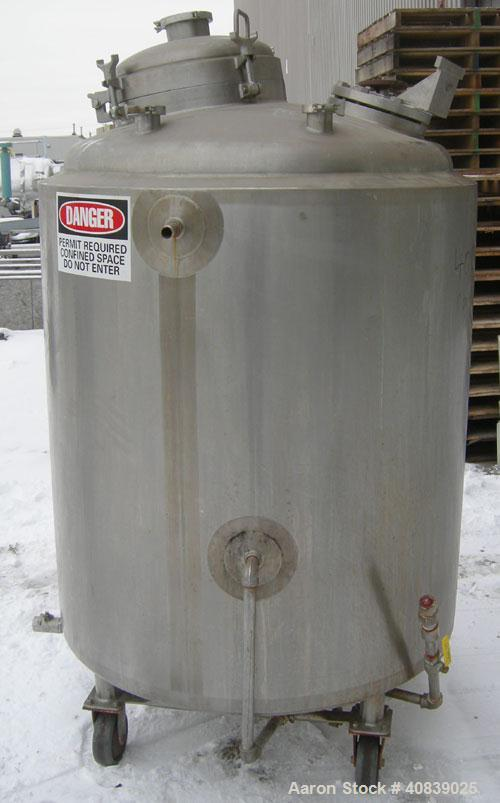 "Used- Walker Stainless Reactor, 210 Gallon (800 Liter), Model SP, 316L Stainless Steel, Vertical. 38"" Diameter x 38"" straigh..."