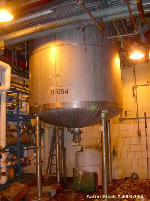 "Used: Walker Stainless reactor, 3000 gallon, stainless steel, vertical. Approximately 88"" diameter x 9'6"" straight side, dis..."