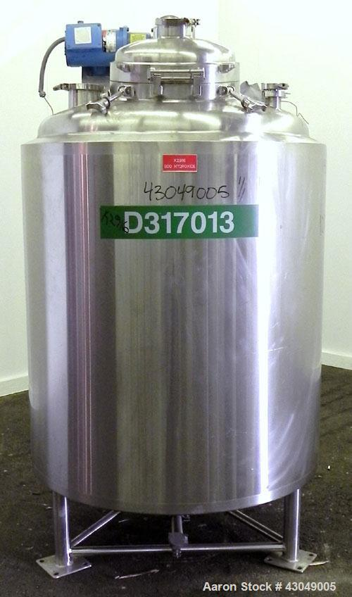 """Used- Walker Stainless Reactor, 800 Liter (211 Gallon), 316L Stainless Steel, Vertical. 38"""" Diameter x 38"""" straight side, di..."""