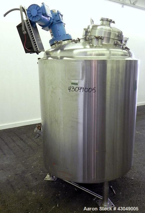 "Used- Walker Stainless Reactor, 800 Liter (211 Gallon), 316L Stainless Steel, Vertical. 38"" Diameter x 38"" straight side, di..."