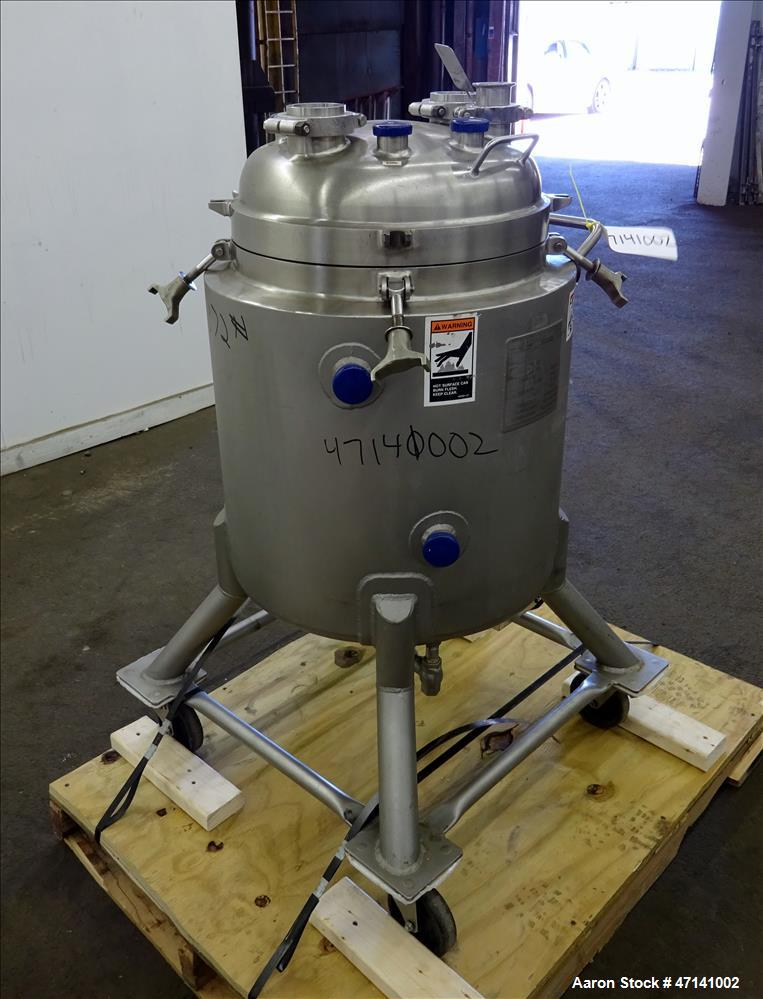 Used- Walker Stainless Reactor, 19.8 Gallon (75 liters), 316L Stainless Steel, V