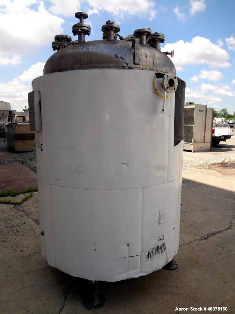 """Used- Watson Metal Masters Reactor, 600 Gallon, 316L Stainless Steel, Vertical. 52.25"""" Diameter x 58"""" straight side, dished ..."""