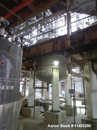 "Used- 4,000 gallon Whiting Metals Reactor. 304 stainless steel construction, dish top and bottom. 102"" diameter x 91"" straig..."