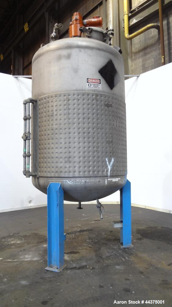 Used- 1718 Gallon Stainless Steel Wolfe Mechanical And Equipment Reactor