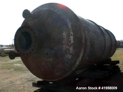 """Used- Wyatt Industries Reactor. 304 Stainless Steel Clad. 84"""" I.D. x 22 Tangent to tangent. Internal rated 1000 psi at 800 d..."""