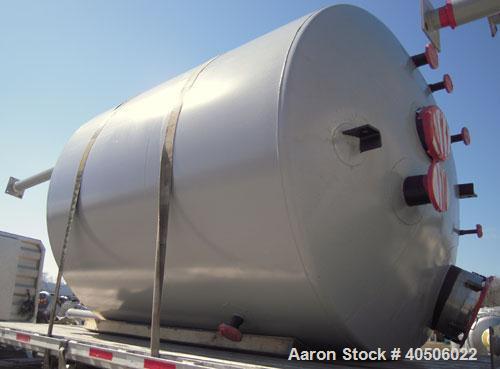 "Unused- Mueller Reactor, 2,500 Gallon, Model ""F"", SA-516 GR 70 carbon steel, vertical. 90"" diameter x 84"" straight side, 2:1..."