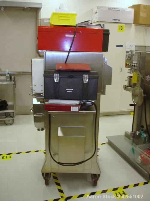 Used- Alexanderwerk Roller Compactor, Model WP120V Pharma, Stainless Steel. Horizontal screw feeder with pre-breaker, cantil...