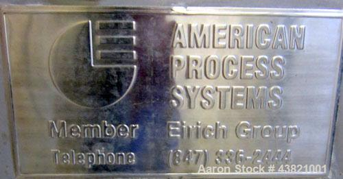 "Used-American Process Systems Model PBC-50 Bag Crusher.  The interior measurements are 24"" wide x 17"" deep x 38"" high, bucke..."
