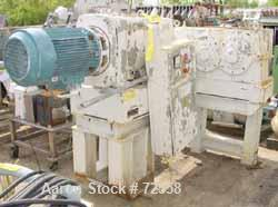Used- Stainless Steel Bepex/Hutt Twin Roll Compactor, Type G27/120