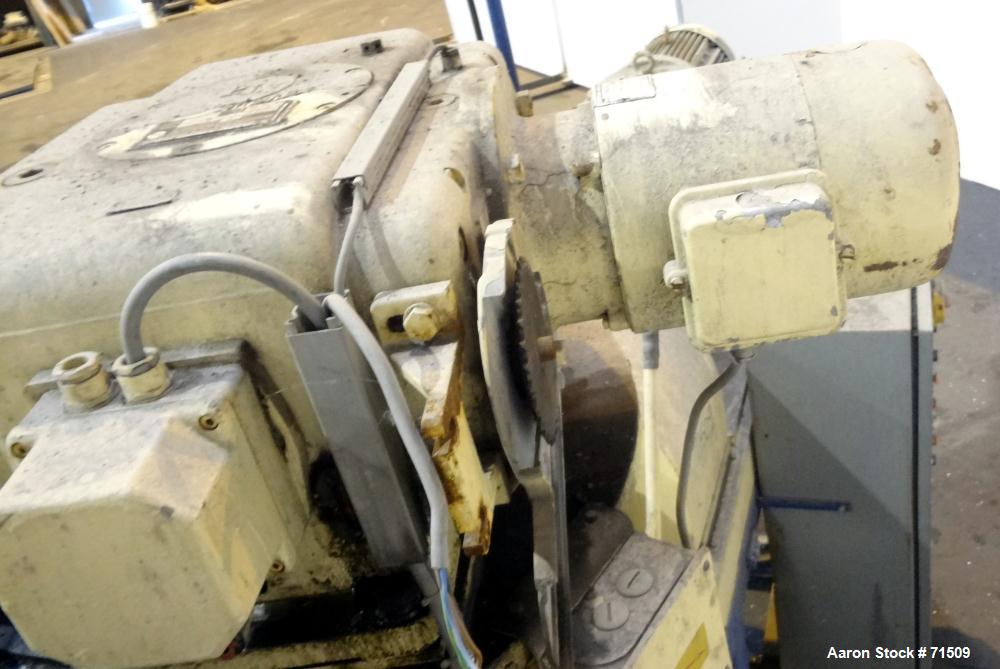 Used- Bepex/Hutt Twin Roll Compactor, Type K 26-100