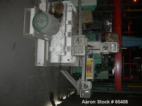 "Used- Bepex Roll Compactor, Model K300-200. 17-4 PH Stainless steel rolls measure 12"" (300mm) diameter x 8"" (200mm) wide. Po..."