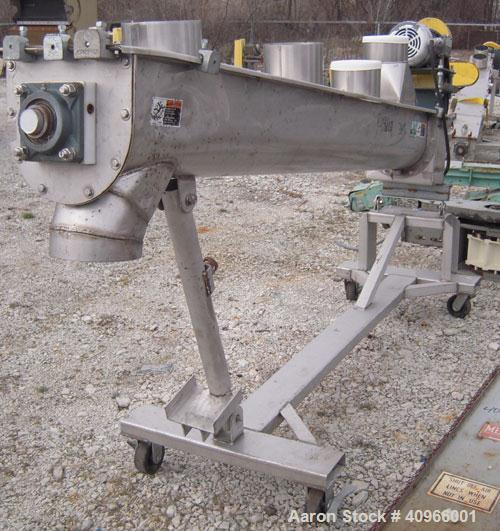 "Used- Fitzpatrick Stainless Steel Chilsonator System Consisting Of: (1) Model 12LX12D chilsonator, 12"" diameter x 12"" face 1..."