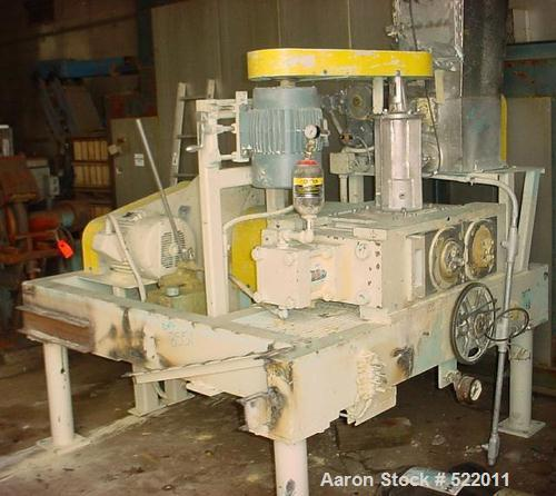 "USED: Fitzpatrick Chilsonator model 7LX10D. Stainless steel contactsurfaces. 10"" diameter x 7"" long rolls. 6.0 to 24.0 rpm. ..."