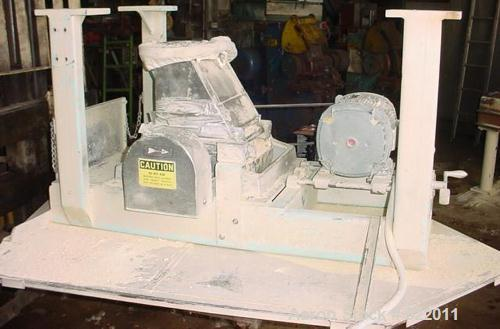 """USED: Fitzpatrick Chilsonator model 7LX10D. Stainless steel contactsurfaces. 10"""" diameter x 7"""" long rolls. 6.0 to 24.0 rpm. ..."""