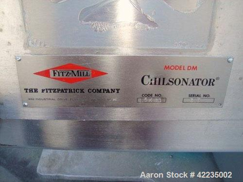 "Used- Fitzpatrick Chilsonator, Model DM, Code 1.5 X 8, Stainless Steel. 8"" diameter x 1-1/2"" face rolls. Includes a control ..."