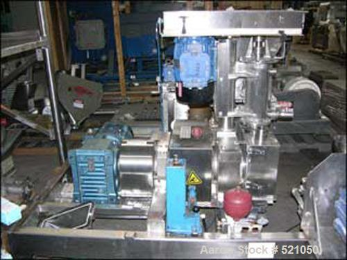USED: Fitzpatrick Chilsonator, model IR 4L X 10D, all stainless steel construction. 316L stainless steel product contact sur...