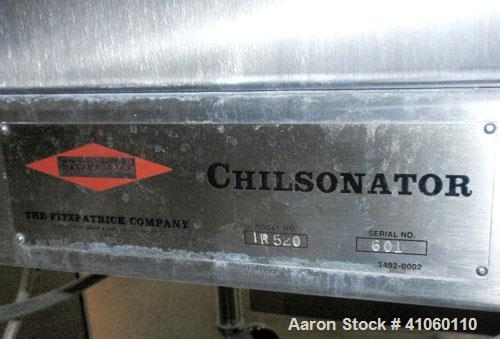 "Used- Fitzpatrick Portable Chilsonator, Model IR 520, 316L stainless steel (product contact areas). Approximate 2"" wide x 8""..."