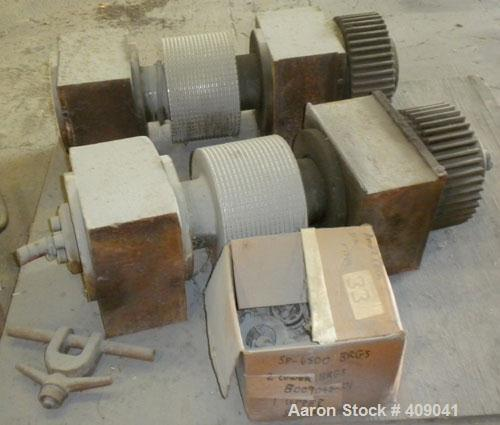 "Used- Fitzpatrick Chilsonator Rolls, (2) 10"" diameter x 6"" face sine grooved rolls, 15-5 PH Stainless Steel."