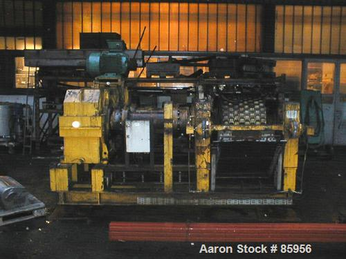 Used- Sahut Conreur Briquetter/Roll Compactor, Type BP-800/565. Material of construction is stainless steel on product conta...