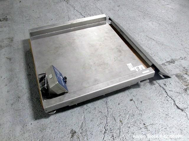 "Used- Indiana Scale Floor Scale. 42"" x 42"" Platform, model 4242-2-IU, stainless steel construction, 2000 pound capacity, wit..."