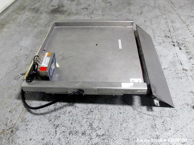 """Used- Indiana Scale Floor Scale. 42"""" x 42"""" Platform, stainless steel construction, 2000 pound capacity with Mettler-Toledo r..."""