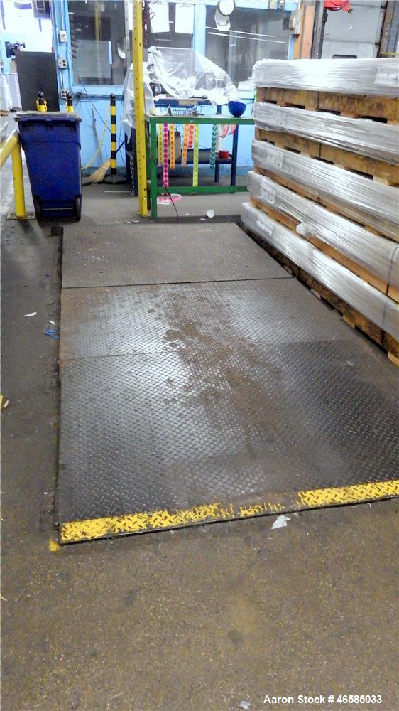Used-Rough Deck Platform Scale with Rice Lake Digital Weight Indicator, Model 420
