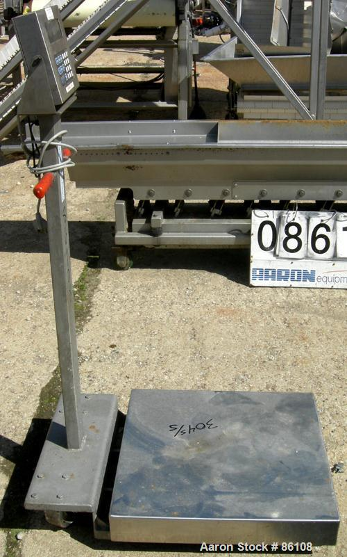 "USED: Cambridge platform scale, model 550. 24"" x 24"" 304 stainless steel platform."