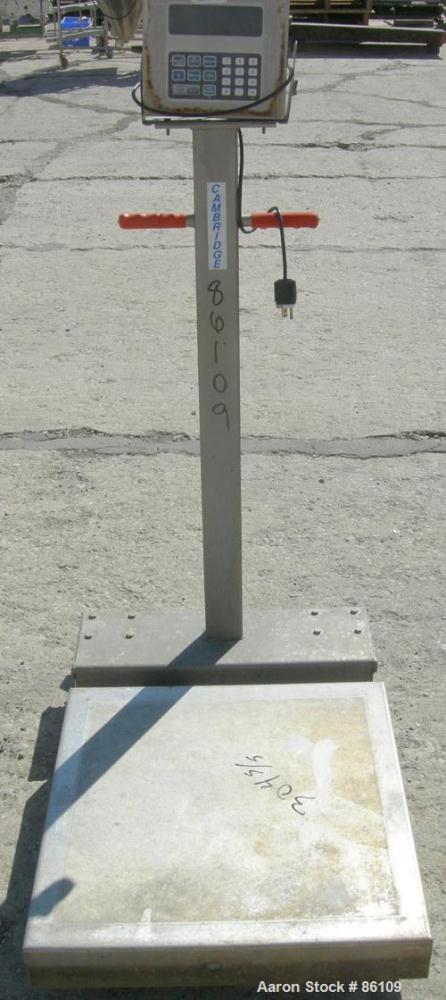 "USED: Cambridge platform scale, model 570. 24"" x 24"" 304 stainless steel platform."