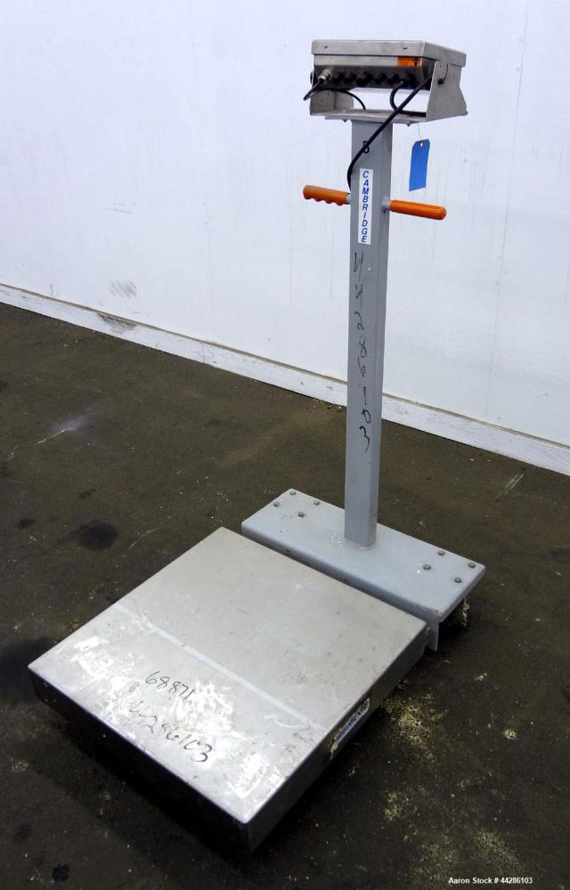 """Used- Cambridge Portable Digital Platform Scale, 1000 Pound Capacity, Model 640-PS-2424-1. 24"""" X 24"""" Stainless steel platfor..."""