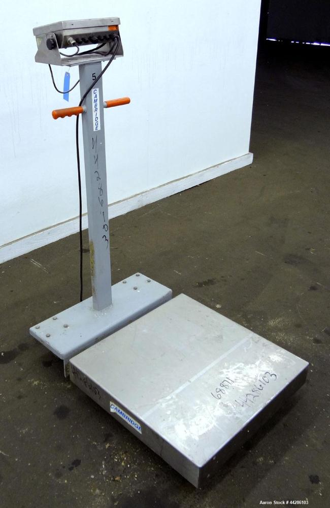 "Used- Cambridge Portable Digital Platform Scale, 1000 Pound Capacity, Model 640-PS-2424-1. 24"" X 24"" Stainless steel platfor..."