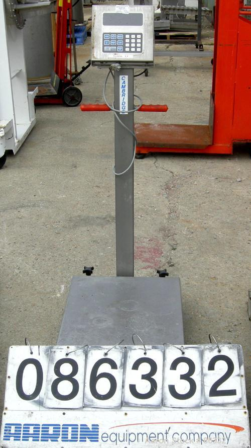 "USED: Cambridge scale works platform scale, 1000 pound capacity, model SS640P-18X24. 18"" x 24"" 304 stainless steel platform...."