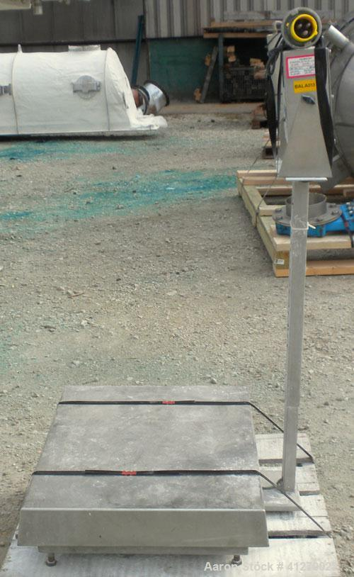 "Used- Doran Platform Scale, 150 pound capacity, model DSP5150/1824. 18"" x 24"" 304 stainless steel  platform. Includes a GSE ..."
