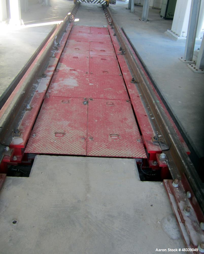 Used- Fairbanks 2000 Series Rocker Column Railroad Track Scale. Track mounted designed to handle weighing railcars with rock...