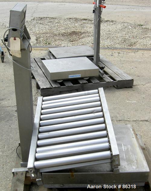 """USED: Fairbanks platform scale, 1000 pound capacity, model H90-165. 23"""" x 27"""" 304 stainless steel platform. Includes a GSE m..."""