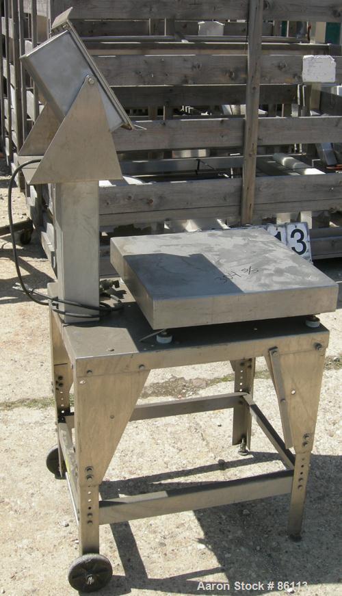 "USED: Fairbanks platform scale, 200 pound capacity, model H90-167. 20"" x 20"" 304 stainless steel platform."