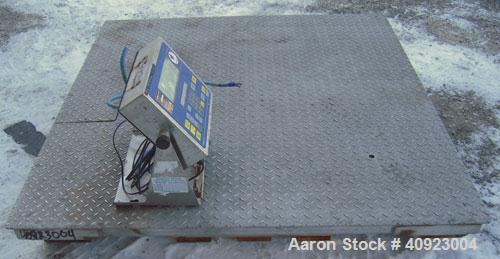 """Used- Fairbanks Scales Aegis Industrial 304 Stainless Steel Floor Scale, Model PLF-HR3400-D1. 48"""" x 48"""" platform, 2,500 poun..."""