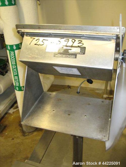 Used- Fairbanks Stainless Steel Scale.  1-250 kg capacity.  Protable on (4) wheels.  Nameplate empty.