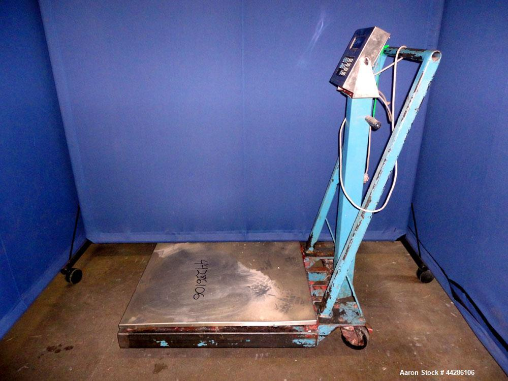 """Used- GSE Portable Platform Digital Scale. 30"""" x 24"""" Stainless steel platform, model GSE 570 controller. Mounted on a carbon..."""