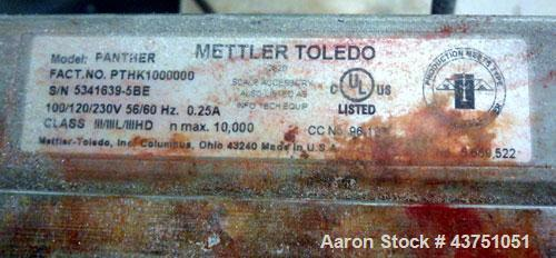 "Used- Mettler Toledo Floor Scale, Model 2256. 1000 Pound capacity. 30"" x 30"" 321 Stainless steel platform, Panther Plus Digi..."
