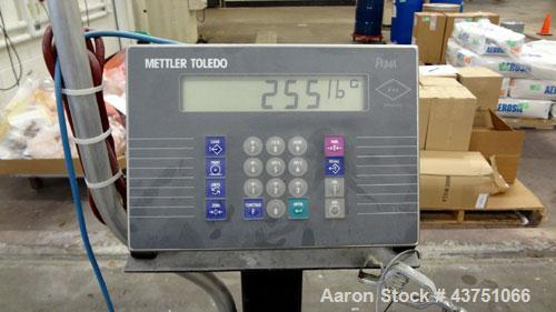 """Used- Mettler Toledo Floor Scale, Model 2256. 10,000 Pound capacity. 72"""" x 60"""" Carbon steel platform, Includes a Puma 5000 P..."""