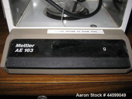 Used- Mettler Toledo Balance, Model AE 163. 160 Gram capacity (0.35 pounds).