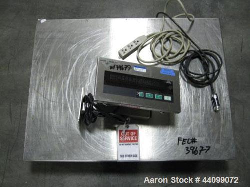 "Used- Mettler Toledo scale, model KCC150S. 150 Kg capacity, 24"" x 31"" scale top, 120 volt, serial# 2724938."