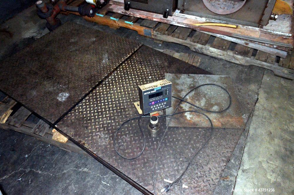 """Used- Mettler Toledo Panther Plus Digital Floor Scale. 36"""" x 36"""" Carbon steel platform with loading ramp, remote display pan..."""