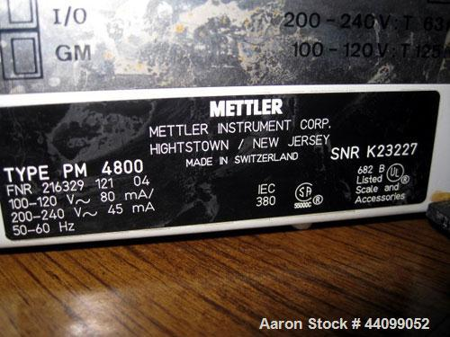 Used-Mettler Toledo Balance, Model PM4800. 4100 Gram capacity (9.03 pounds). Serial# K23227.